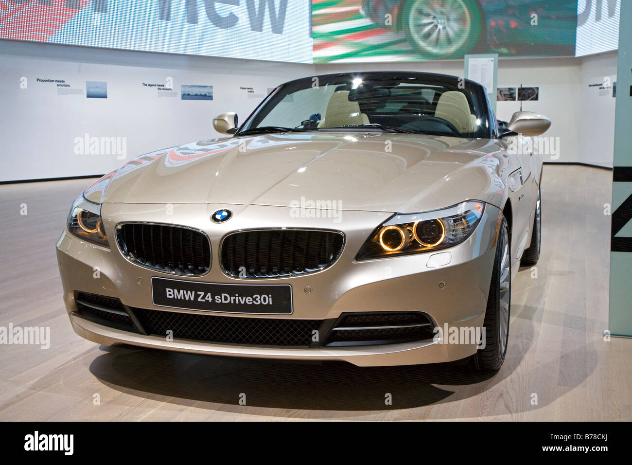 Detroit Michigan The BMW Z4 Roadster on display at the North American International Auto Show Stock Photo