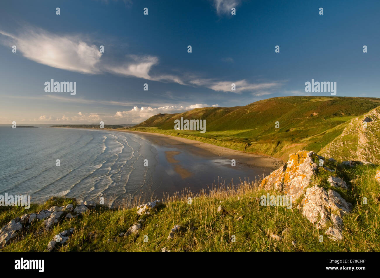 Rhossili Bay, Gower Stock Photo