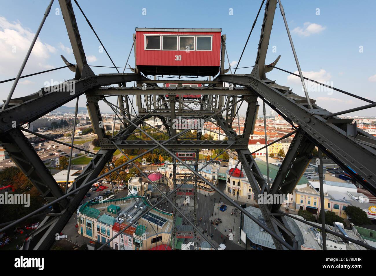 Giant wheel at Prater, Vienna, Austria, Europe Stock Photo