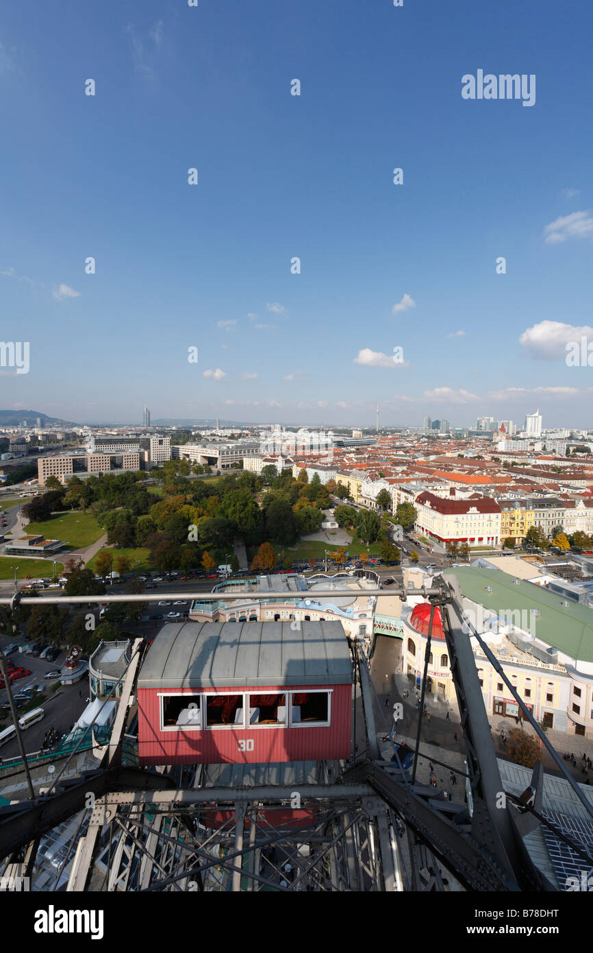 View from the giant wheel at Prater, Vienna, Austria, Europe Stock Photo