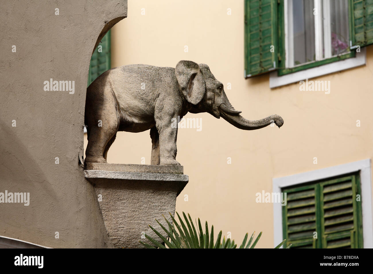 Stone elephant, historic city centre of Graz, Styria, Austria, Europe - Stock Image