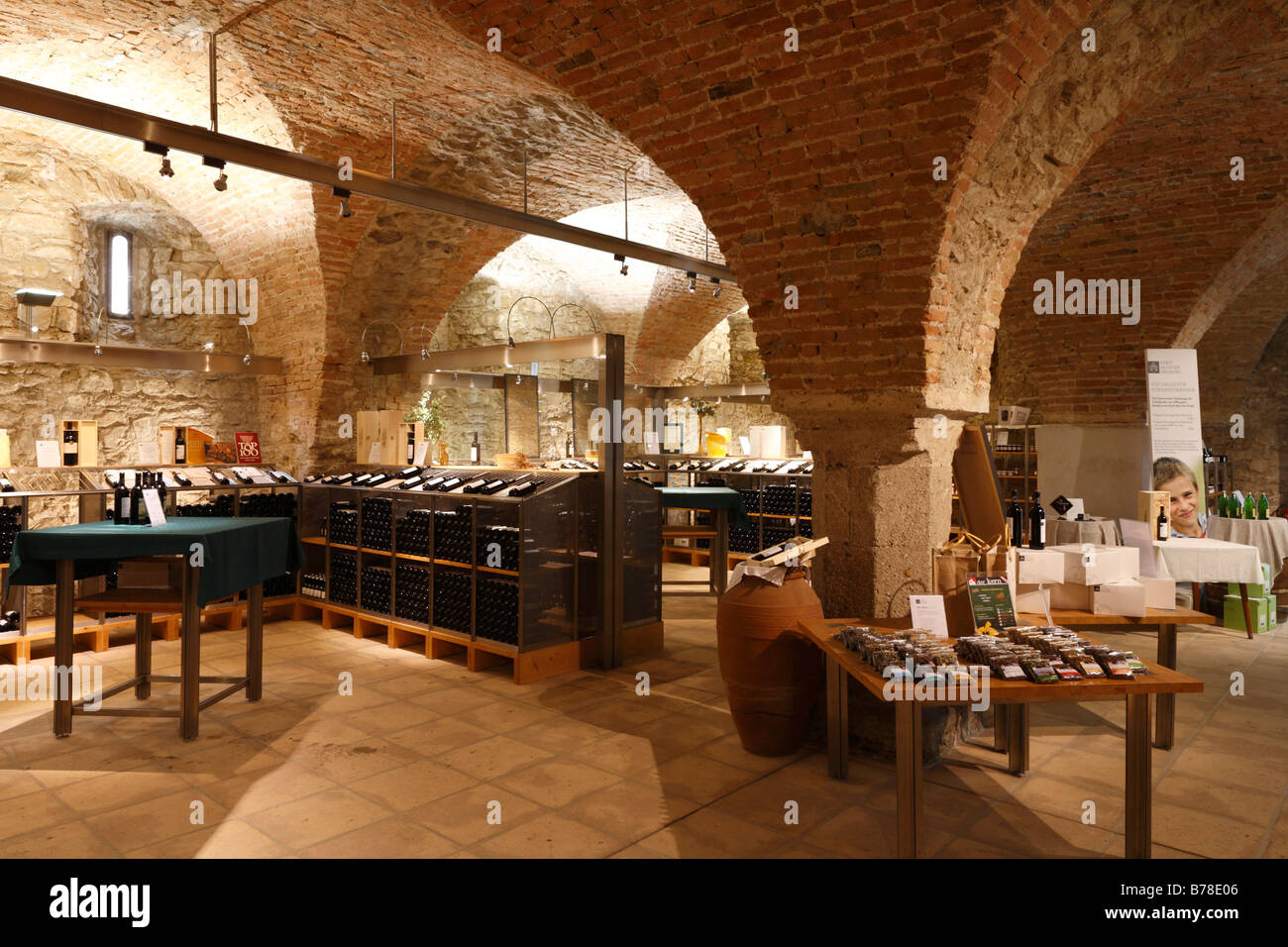 Wine bar in the old wine cellar of the Klosterneuburg Monastery ...