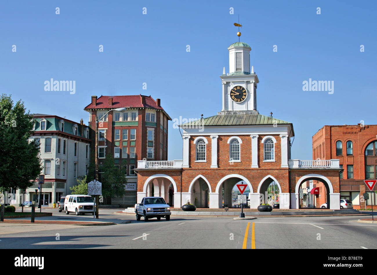 Historic Old Market House in Fayetteville North Carolina Stock Photo