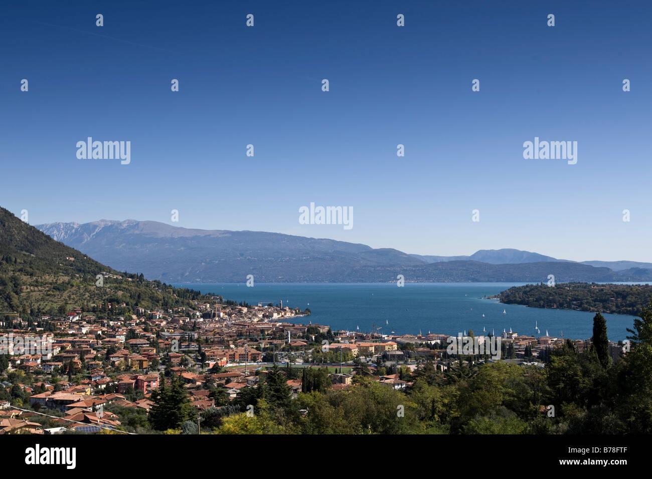 Manerba del Garda, village on Lake Garda, Lago di Garda, Lombardy, Italy, Europe - Stock Image