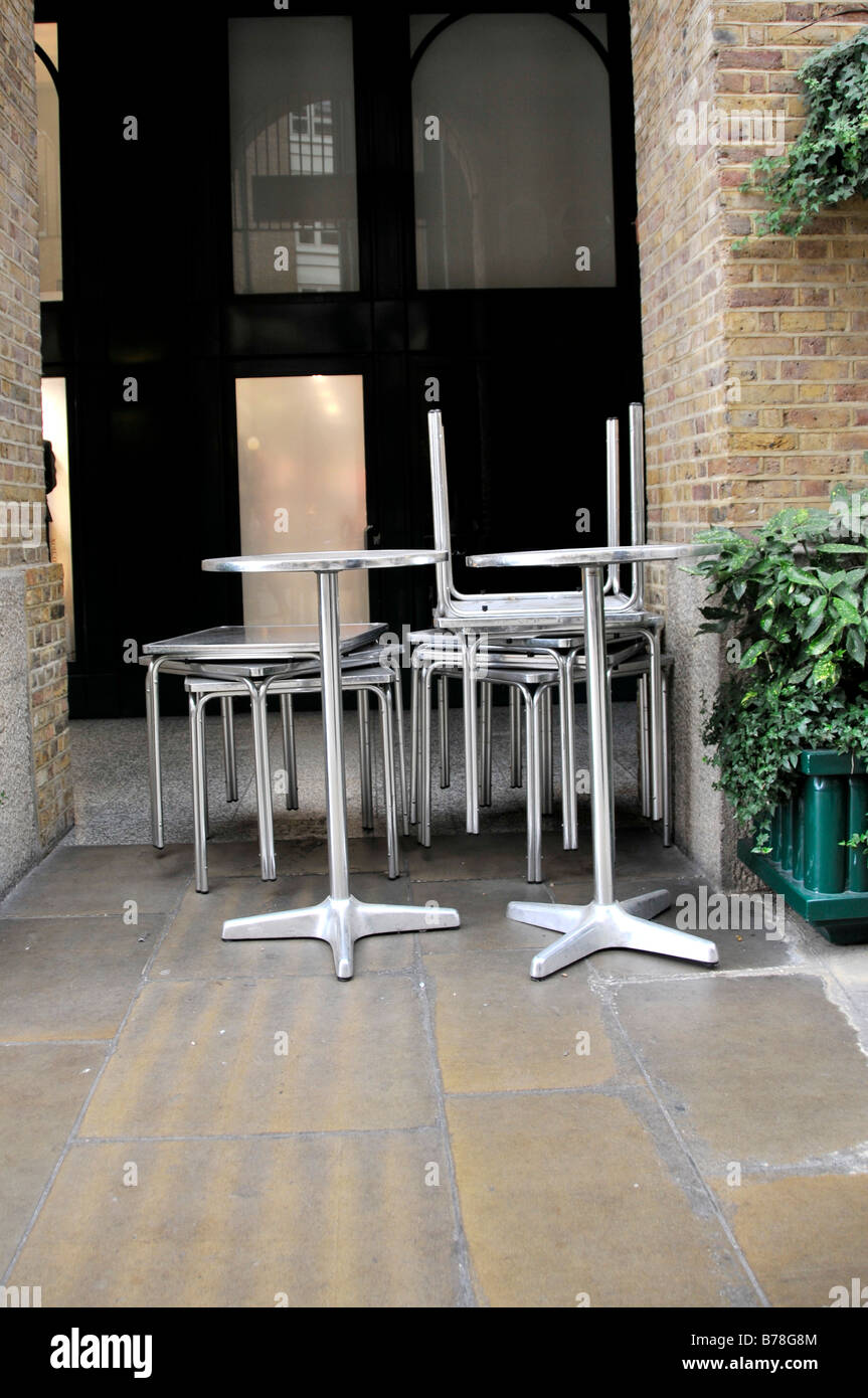 Stacked Cafe Tables Stock Photos U0026 Stacked Cafe Tables Stock ...