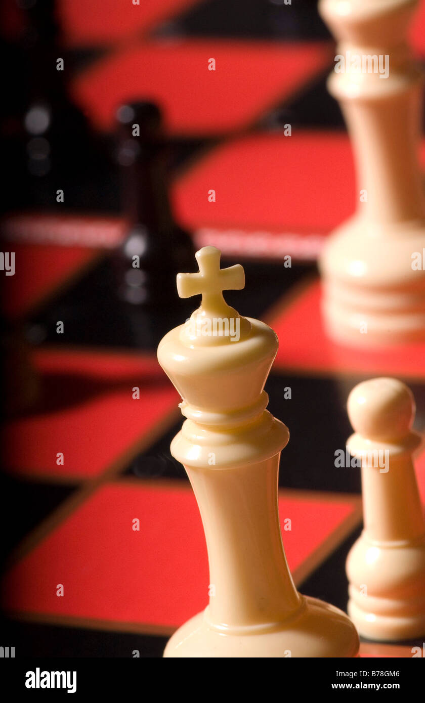 chess pieces on a chessboard - ©Marty Heitner - Stock Image