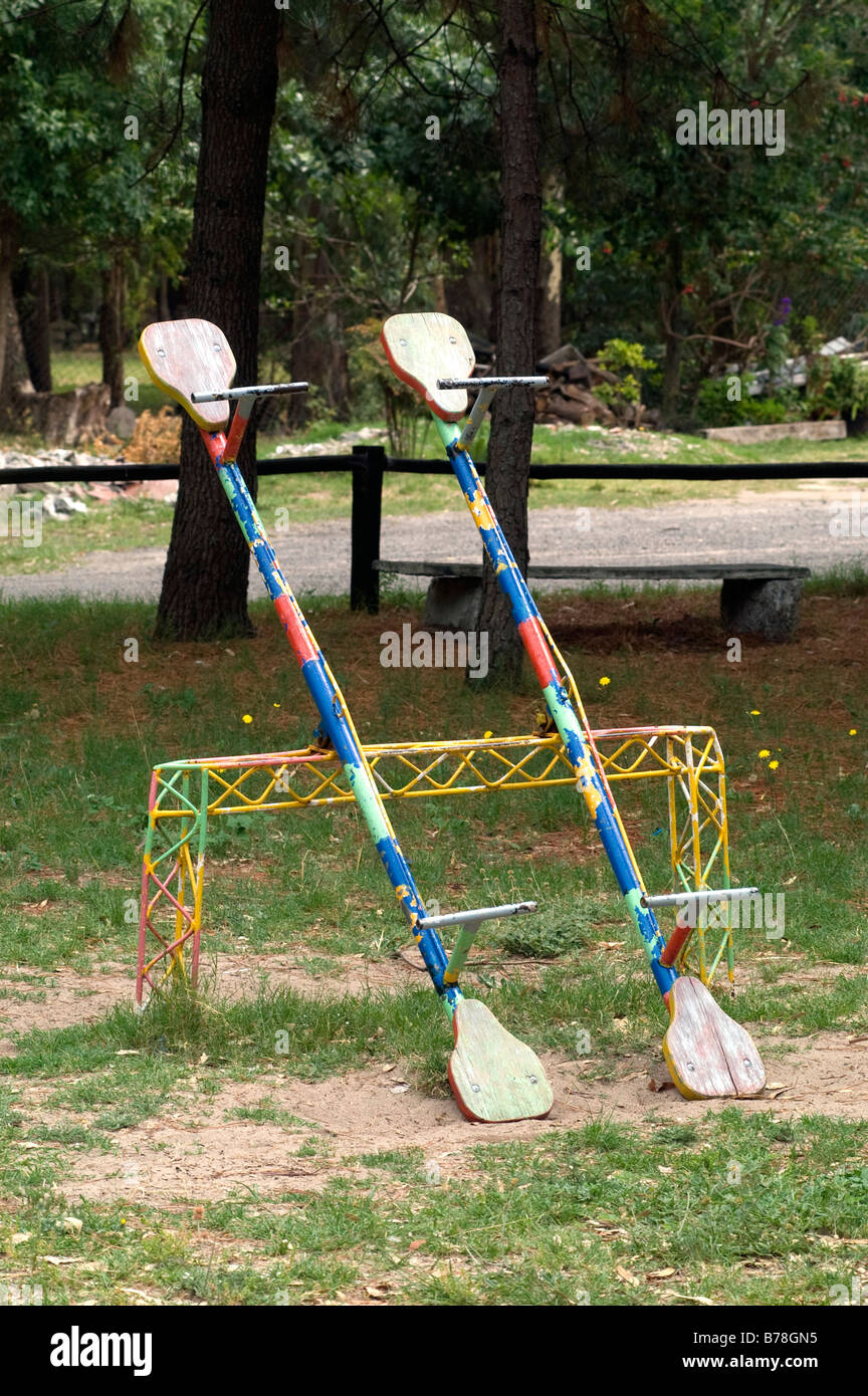 see saws in a children's' playground,Uruguay  -  ©Marty Heitner Stock Photo