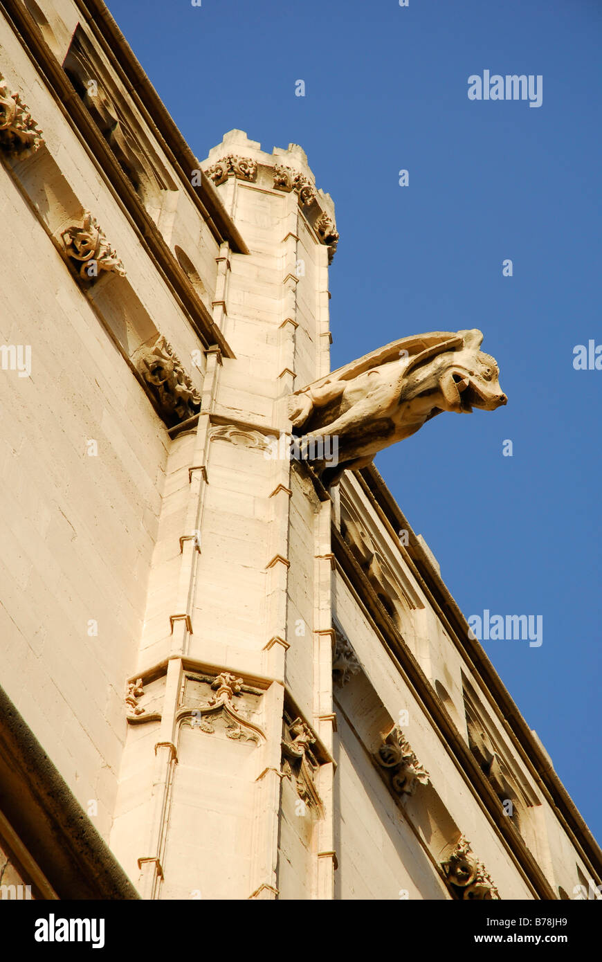 Facade detail in the Catalonian Gothic style, former maritime trade stock exchange, used today for art and cultural - Stock Image