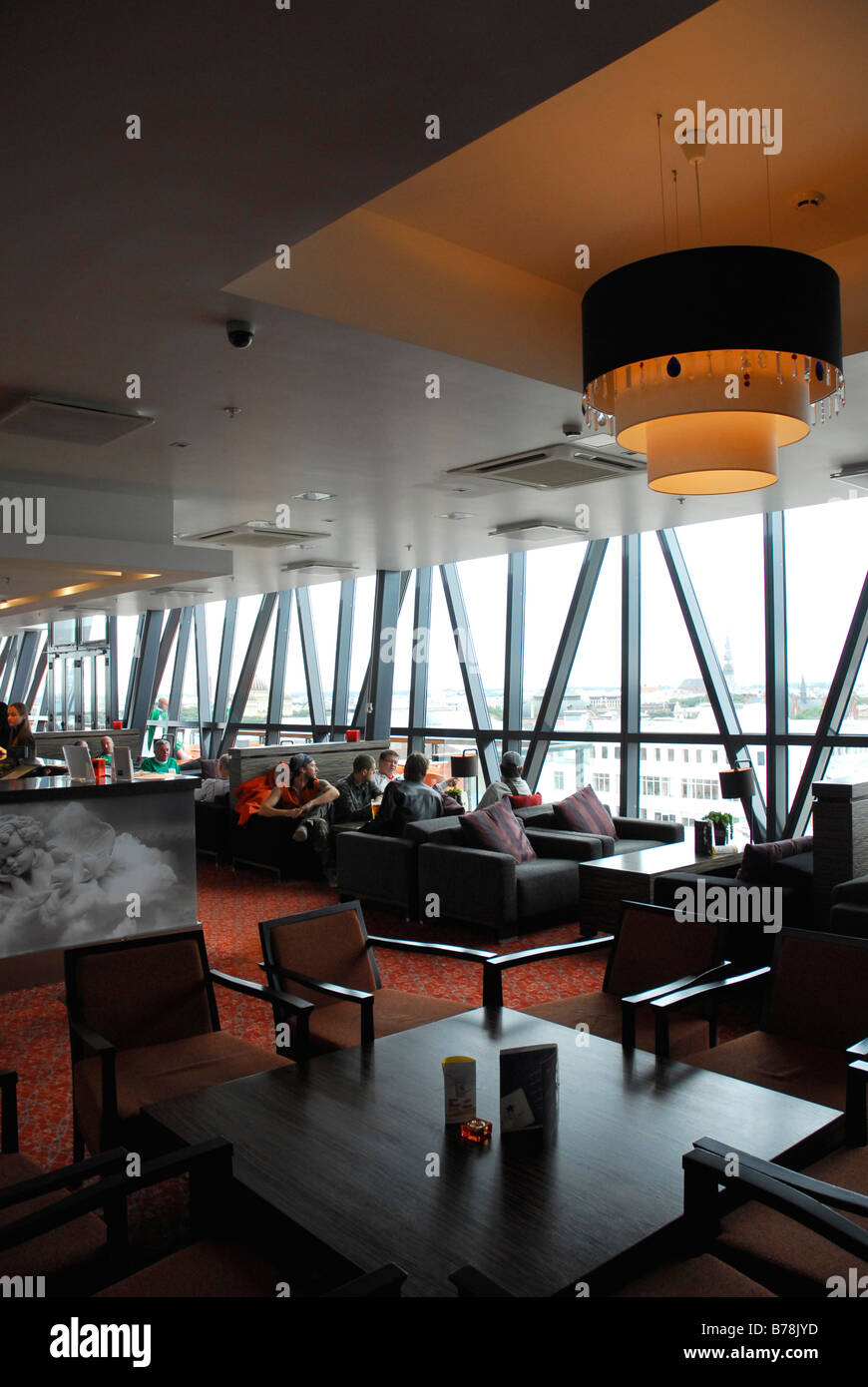 Albert Hotel restaurant, a modern high rise hotel in the Dzirnavu ...