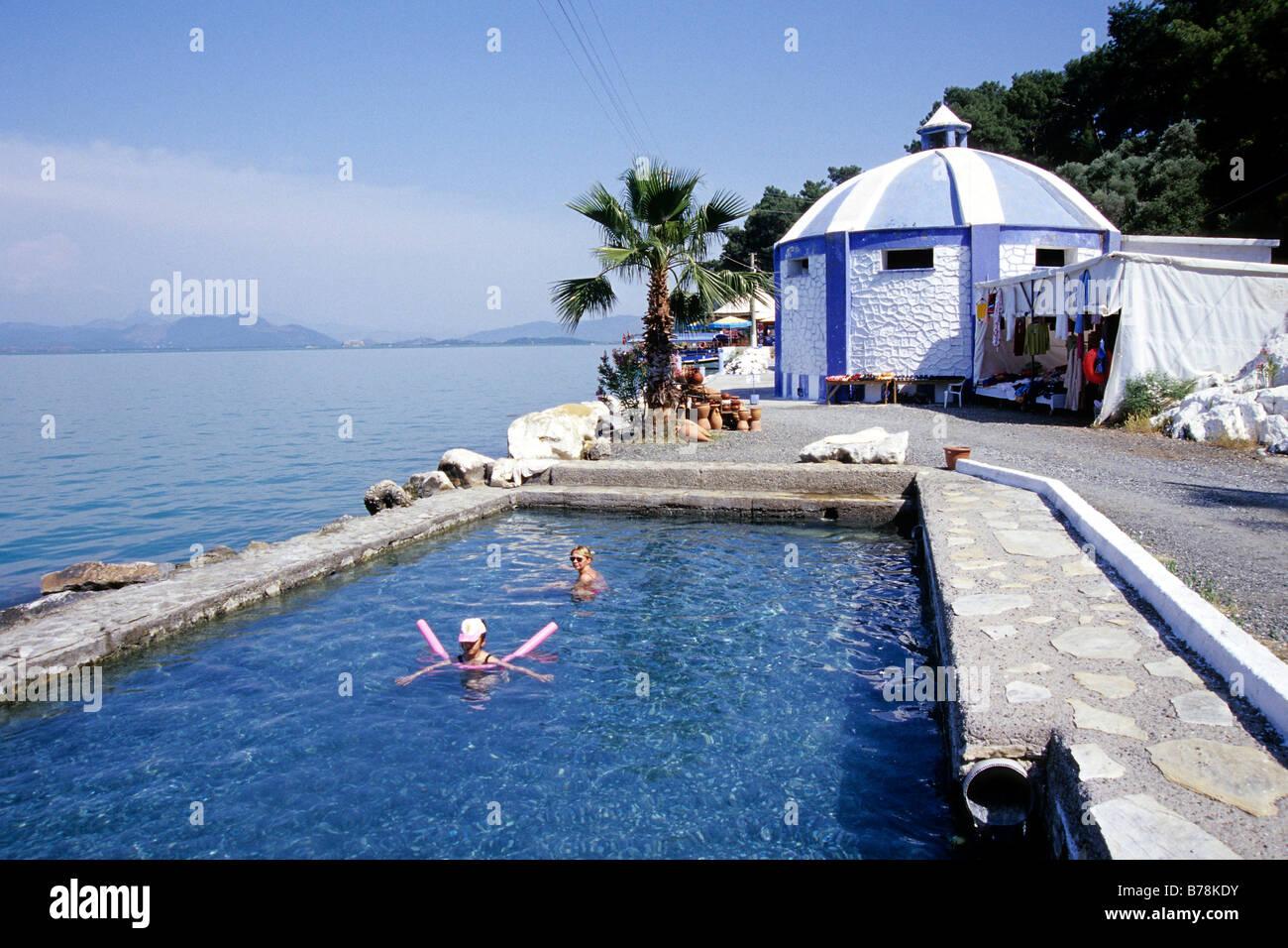 Thermal bath with hot spring water at Lake Koeycegiz, Wellness in ...