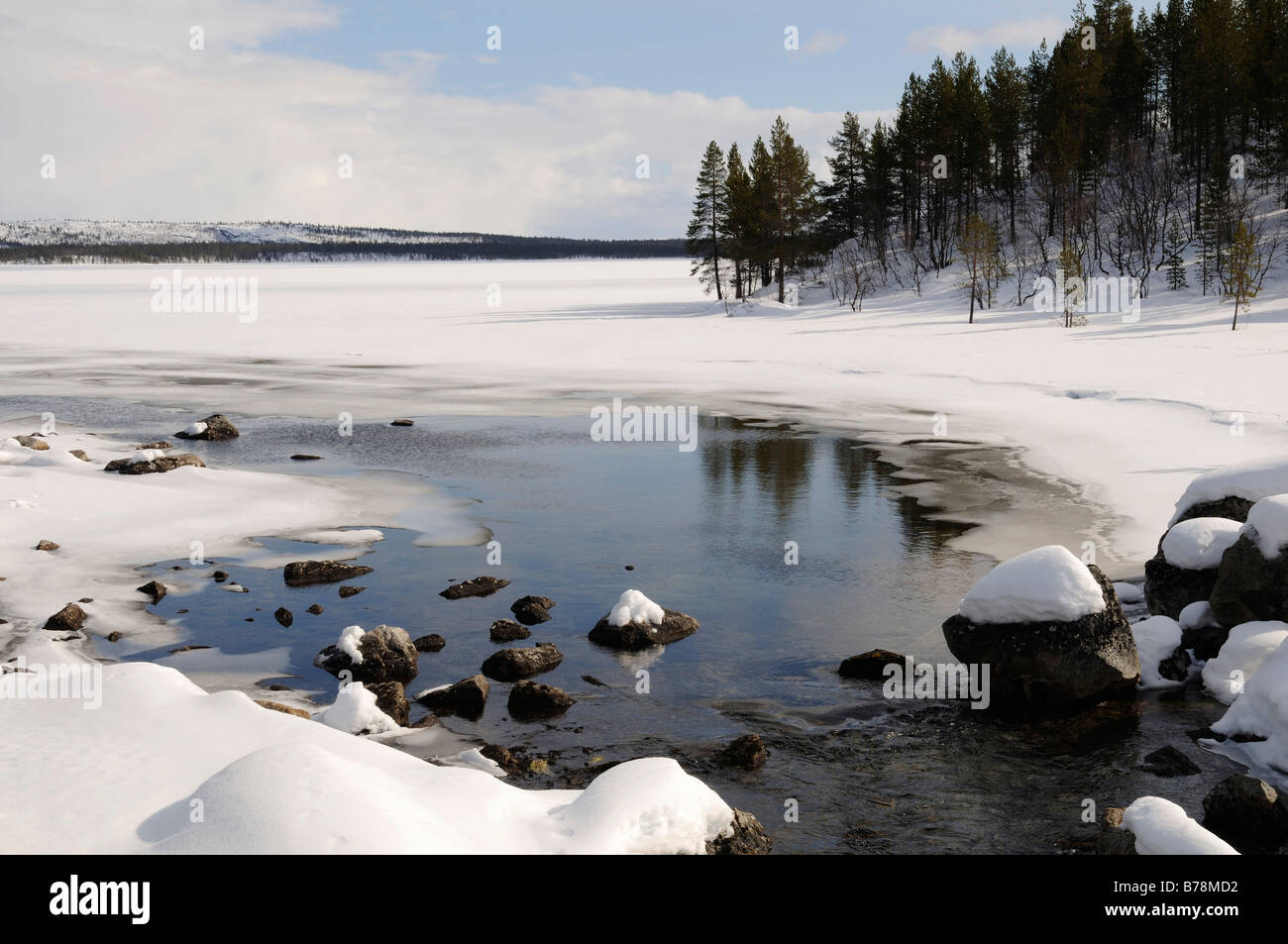 Inari Lake near Partakko, Finland, Europe - Stock Image