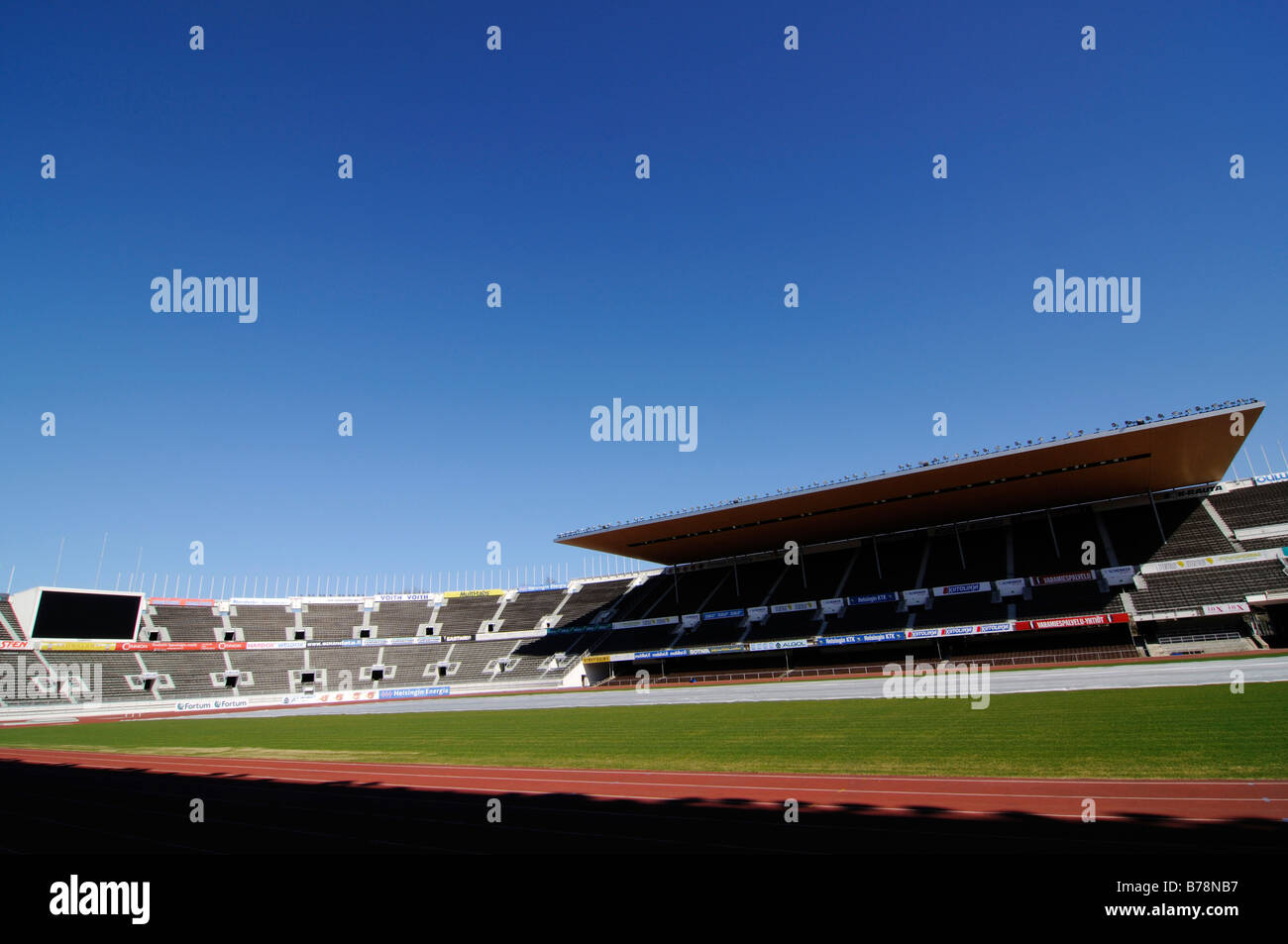 Olympic stadium, partial view, Helsinki, Finland, Europe - Stock Image