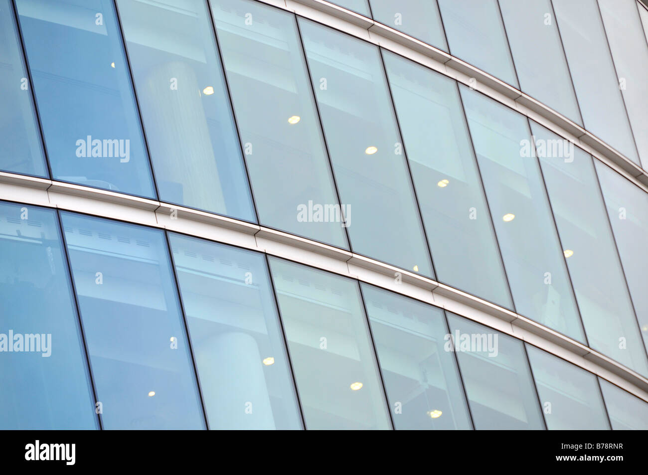 glass panels of a building - Stock Image