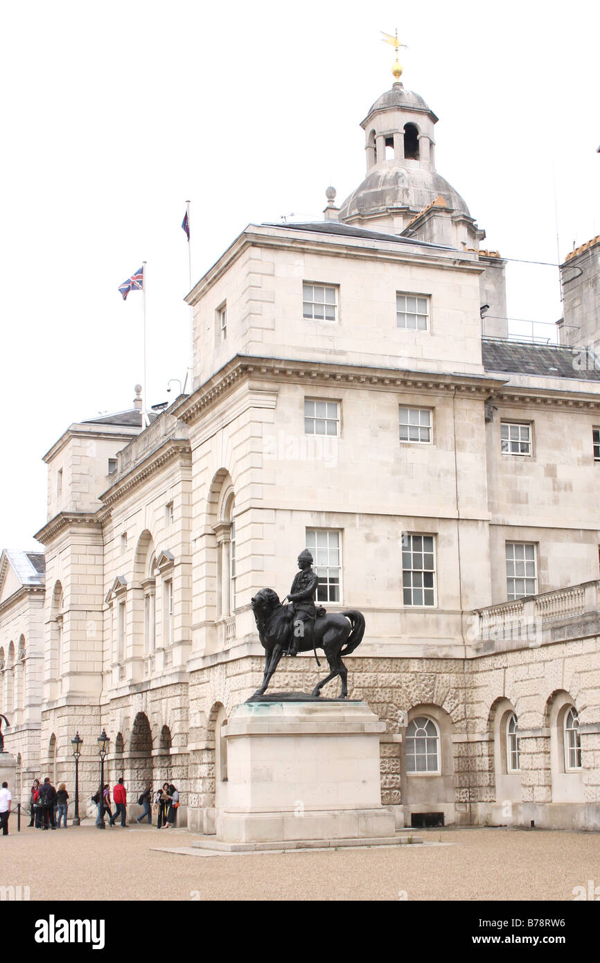 The elegant buildings of Horse Guards in Whitehall London UK - Stock Image