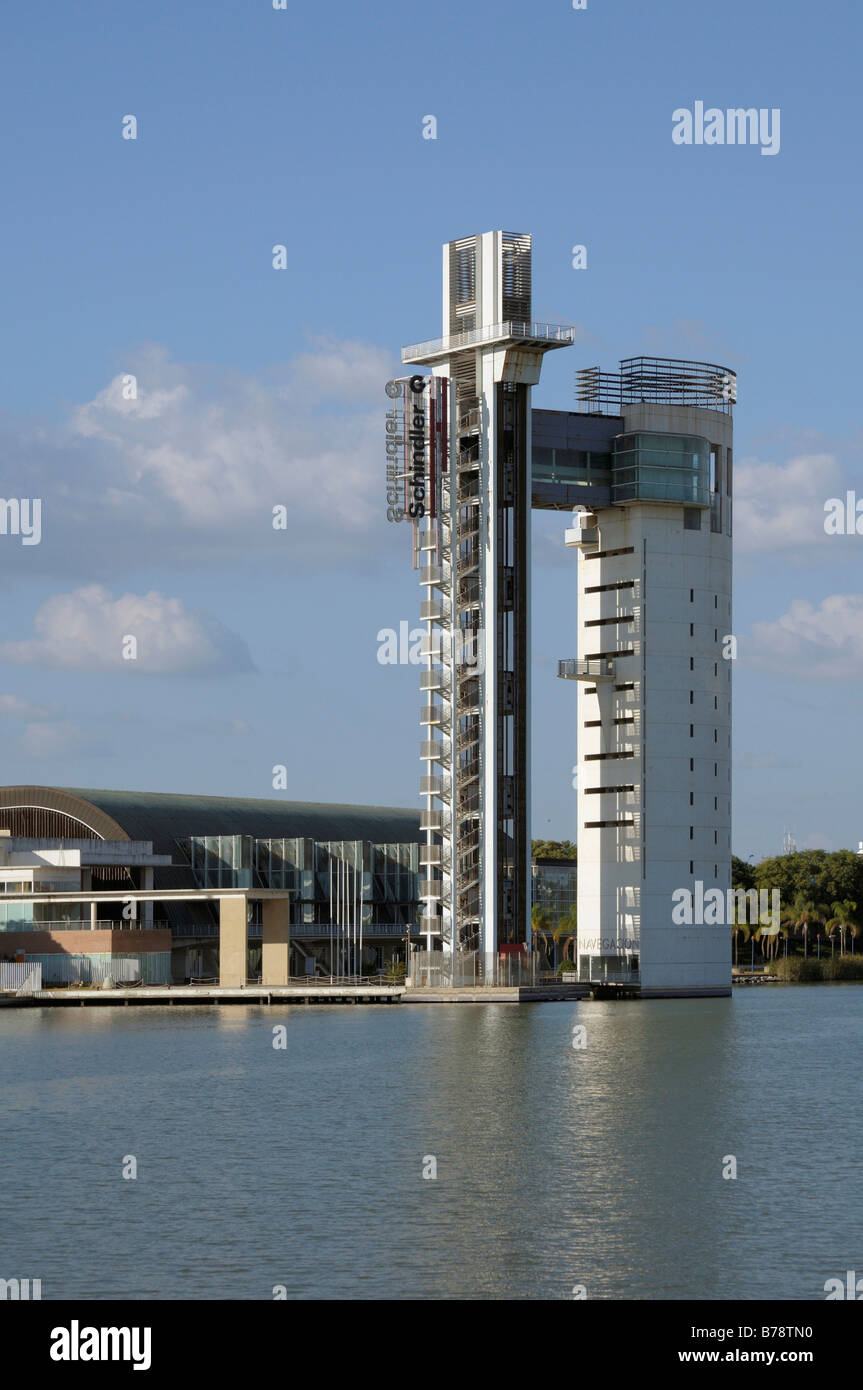 Area of the Expo 92, Sevilla, Andalusia, Spain, Europe - Stock Image