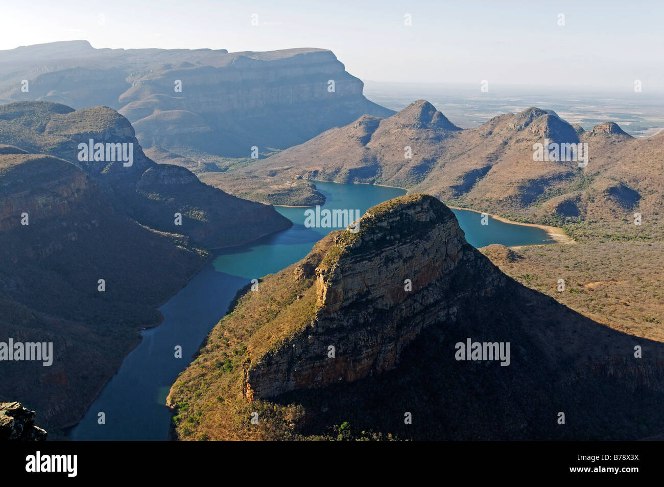 Blyde River Canyon and reservoir Blyderivierspoort Dam, Mpumalanga, South Africa, Africa Stock Photo