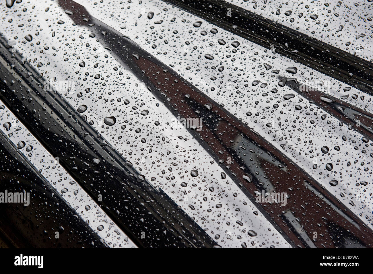 Drops of water on car bodywork, Stuttgart, Baden-Wuerttemberg, Southern Germany, Europe Stock Photo