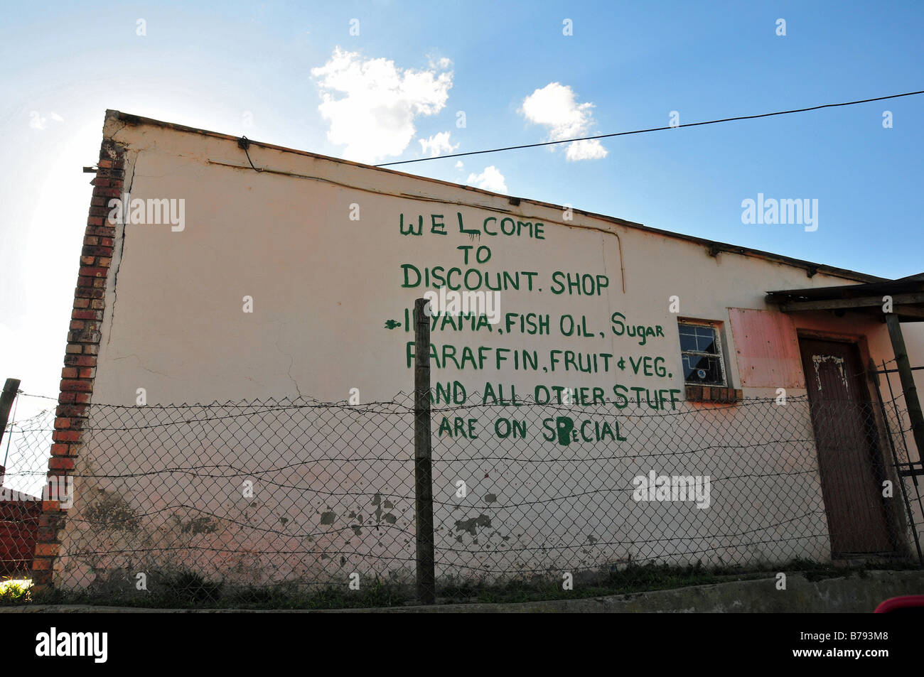 Township village store, Grahamstown, South Africa Stock Photo