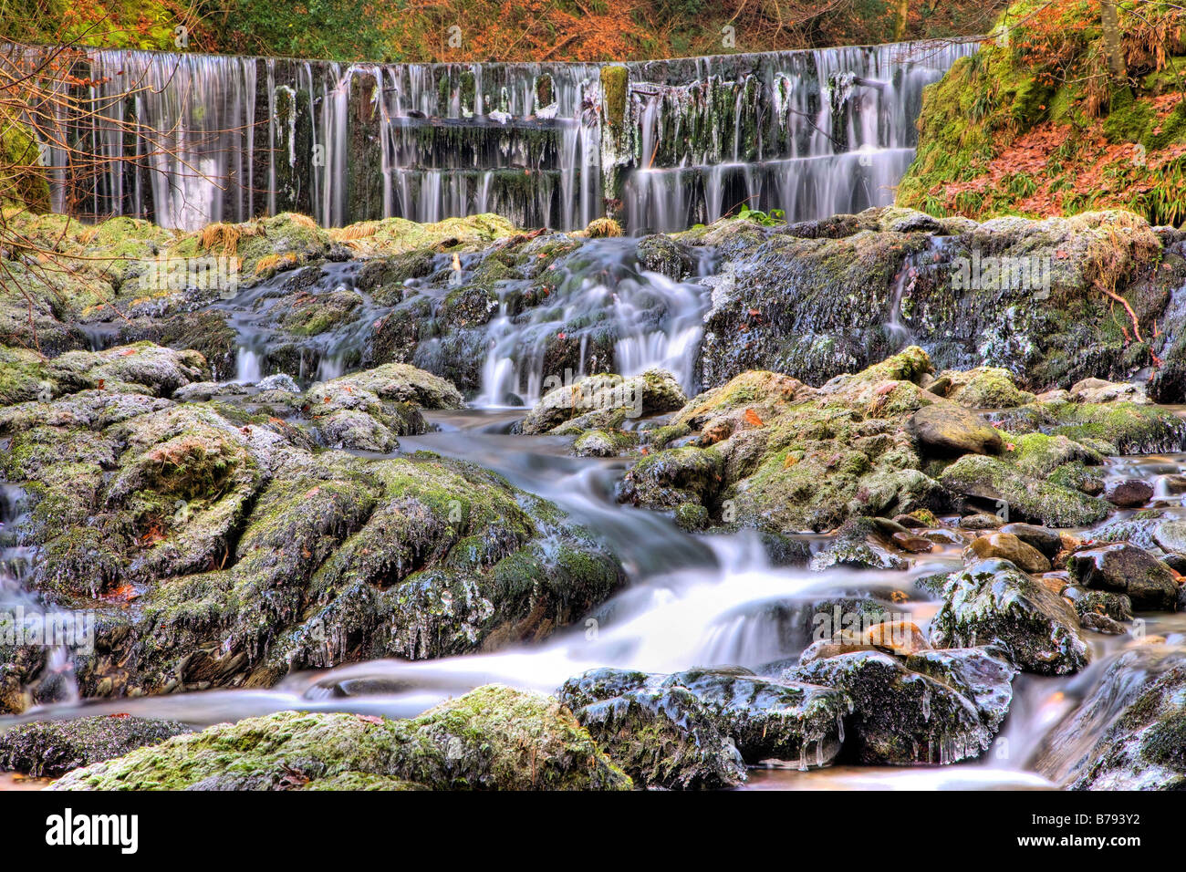 Stock Ghyl Waterfalls at Ambleside - Stock Image