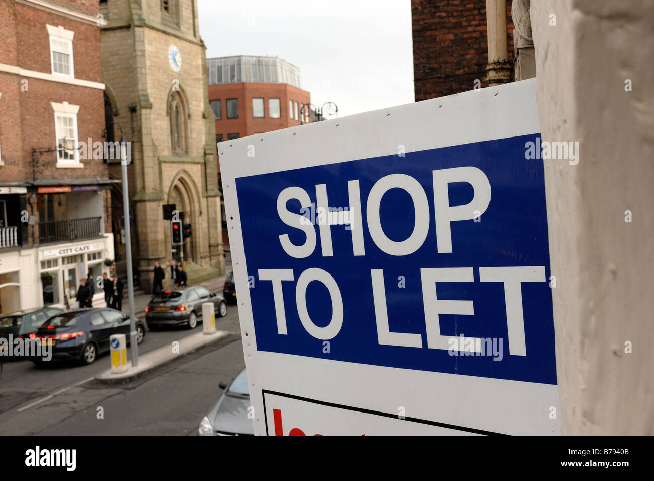 Shop To Let sign - Stock Image