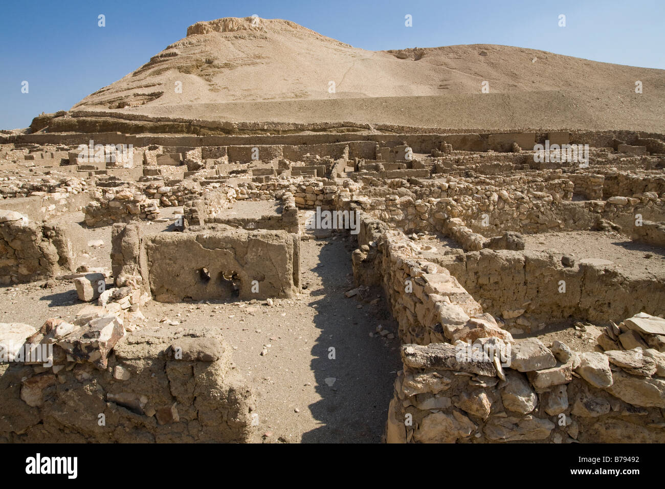 Deir el-Medina: The Workers' Village on the West Bank Luxor, Egypt - Stock Image