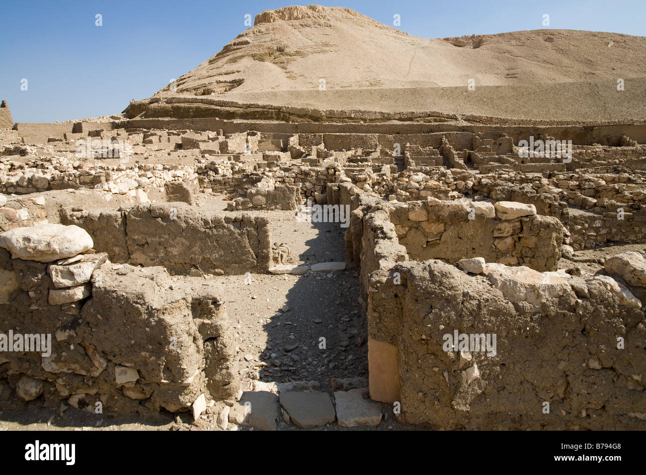Deir el Medina: The Workers' Village on the West Bank Luxor, Egypt - Stock Image