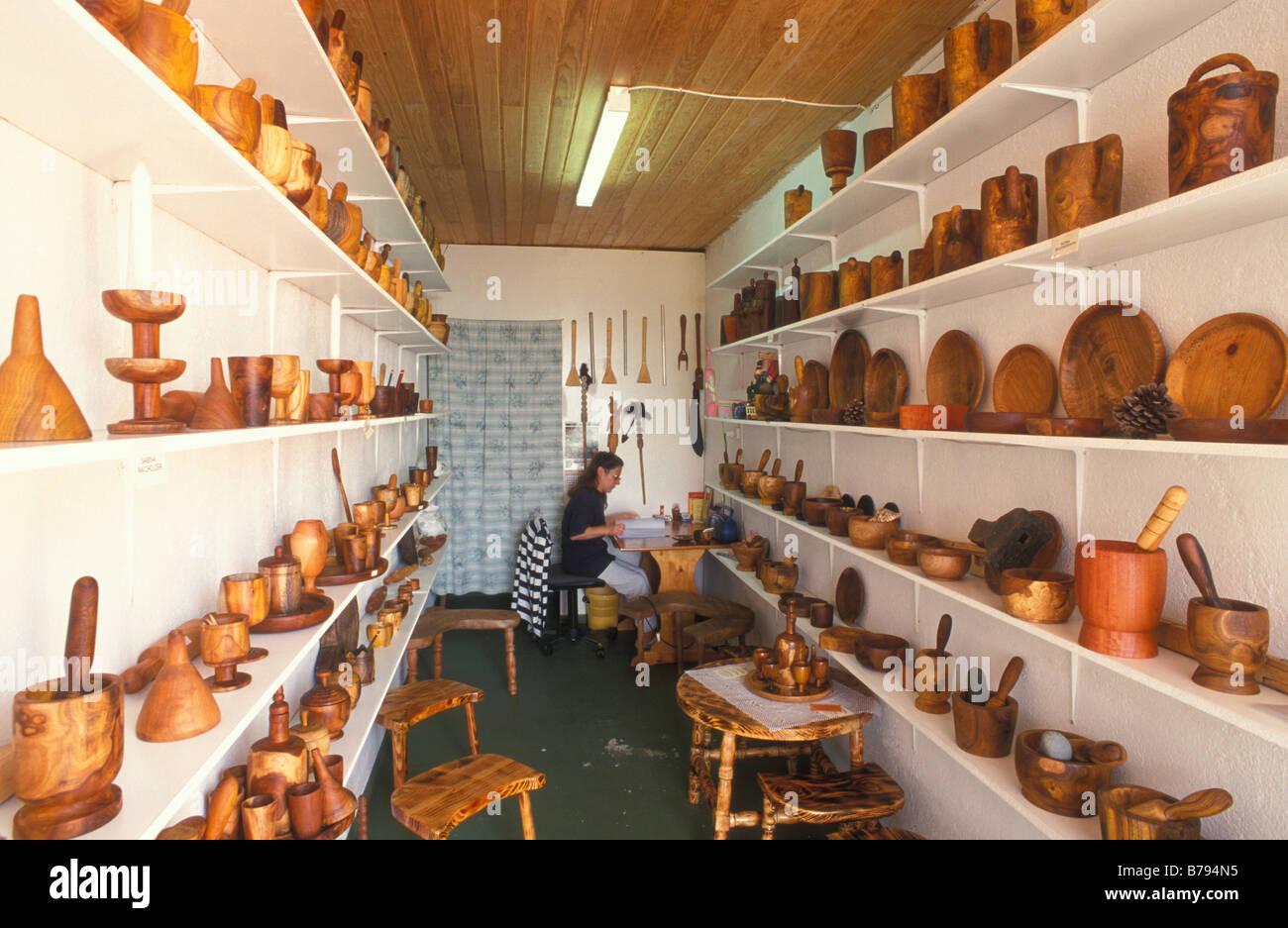 Mulberry Wood, Artesania Madera Casa Nicio, Tigaday, El Hierro Stock ...