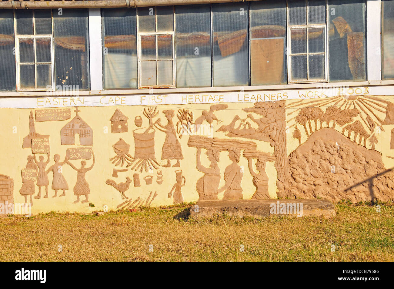 External wall mural (Eastern Cape First Heritage Learners Work 2003 ...