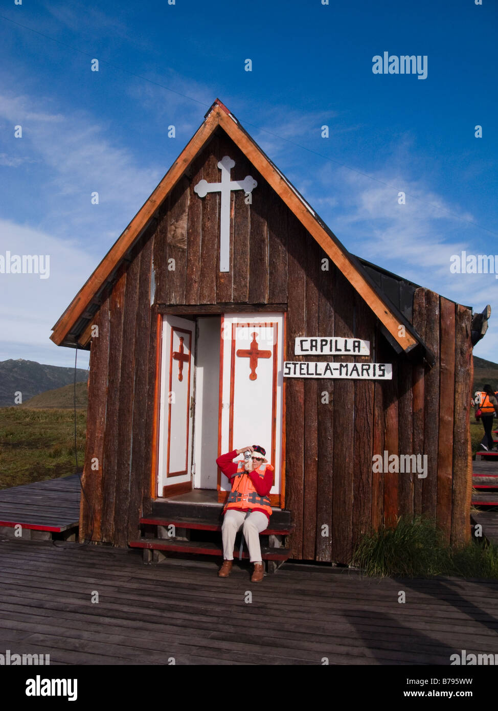 Stella Maris chapel Cape Horn Chile Patagonia South America - Stock Image
