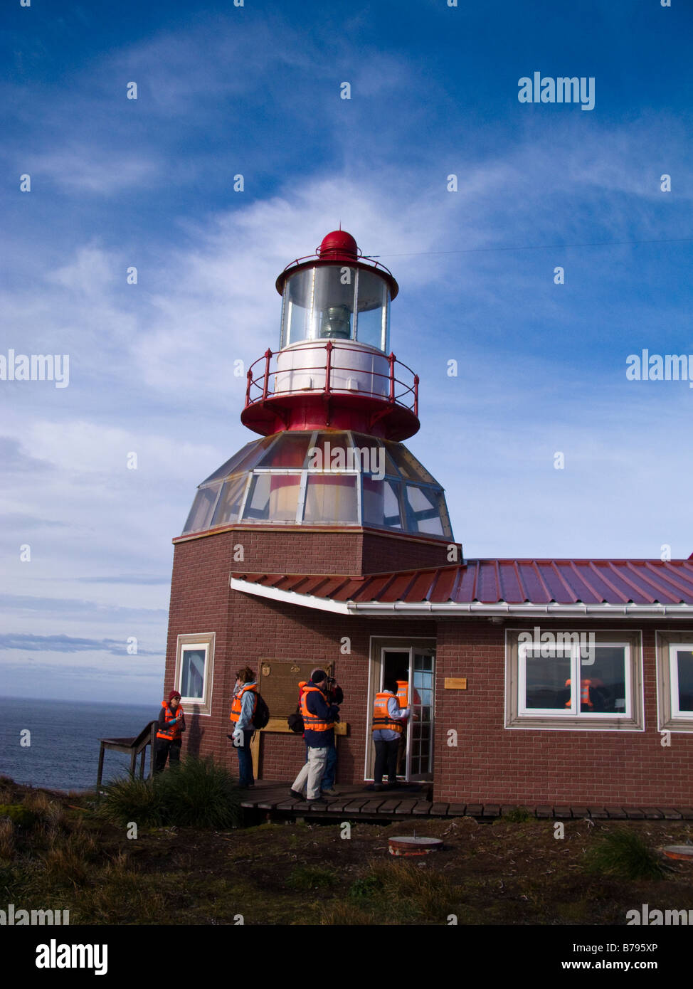 Lighthouse at Cape Horn, Patagonia, Chile, South America - Stock Image