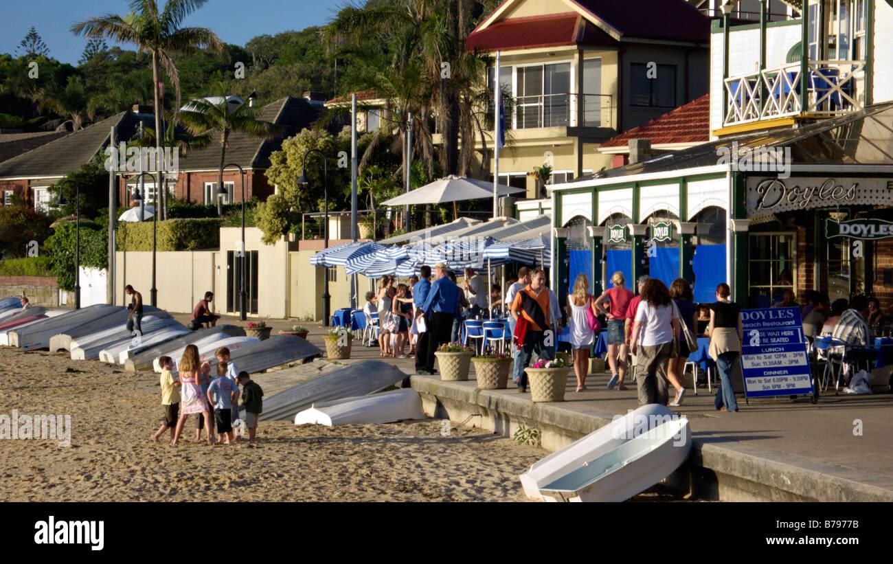 Doyles Restaurant at Watsons Bay, Sydney, Australia - Stock Image