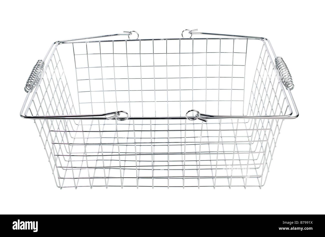 empty Shopping basket - Stock Image