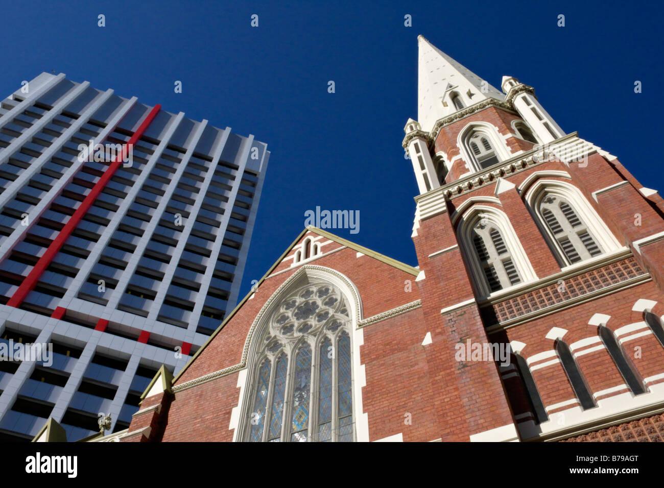 Albert Street Church, Brisbane, Australia - Stock Image