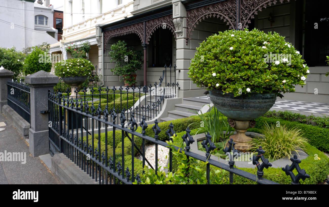 Victorian house on Powlett Street, East Melbourne, Melbourne, Australia - Stock Image