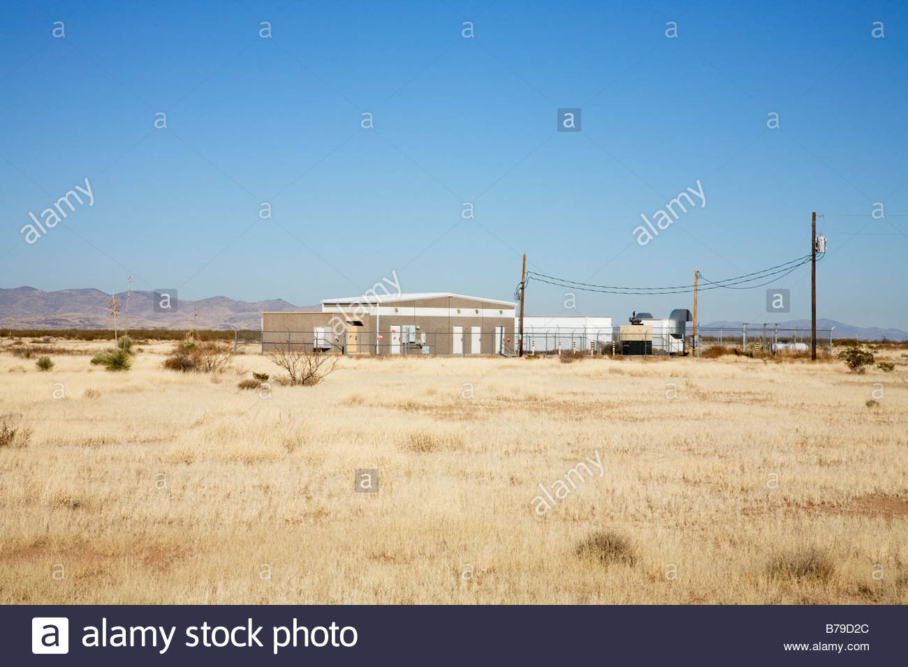 Fiber optic repeater booster station in southwestern 'New Mexico' - Stock Image