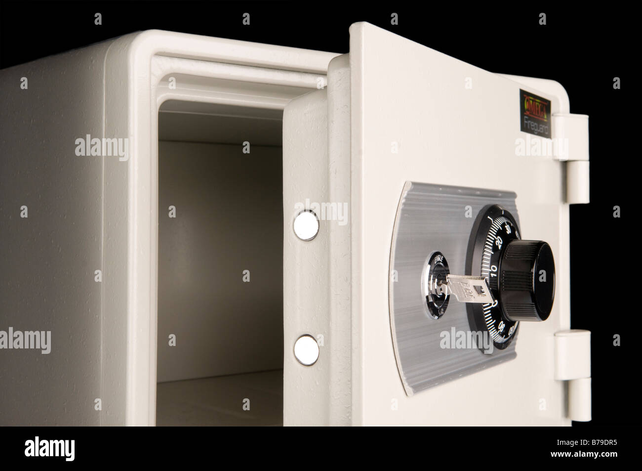 Open Safe Door - Stock Image