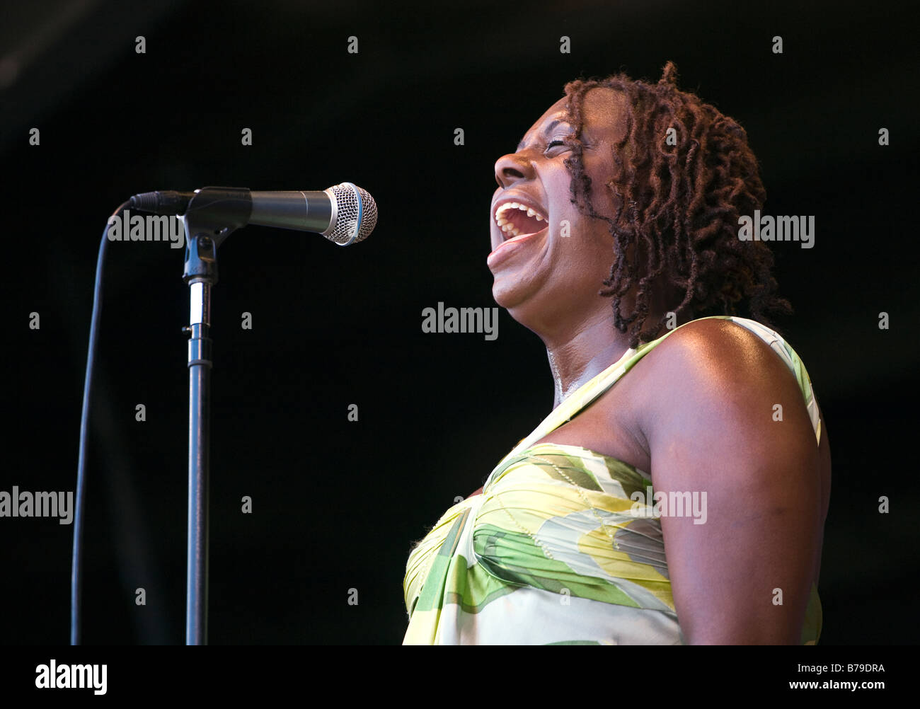 LEDISI sings her heart out at the 51st MONTEREY JAZZ FESTIVAL MONTEREY CALIFORNIA - Stock Image
