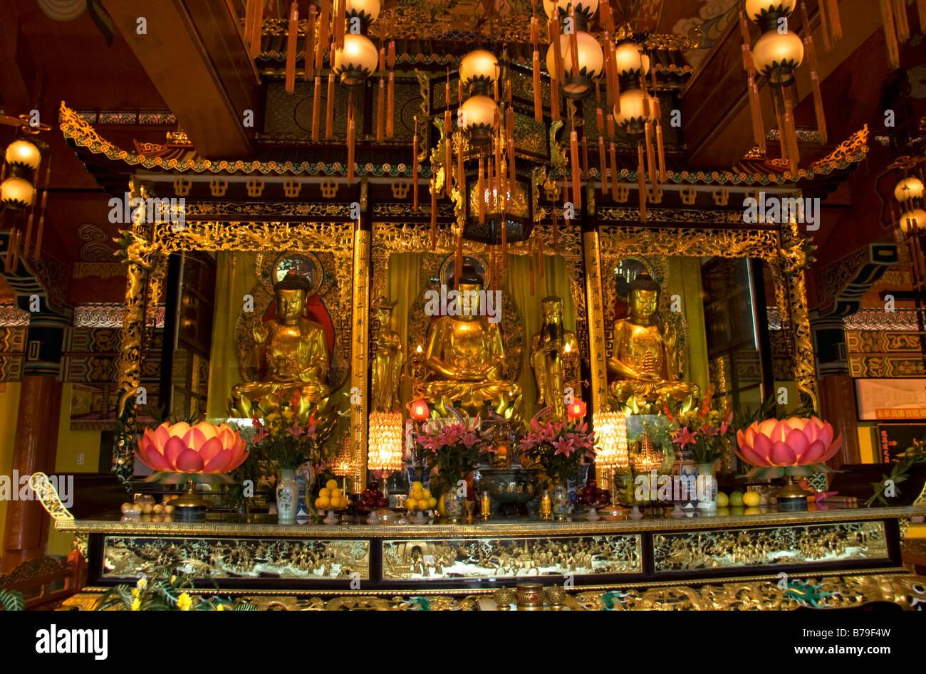 Po Lin Monastery Lantau Island Hong Kong China - Stock Image