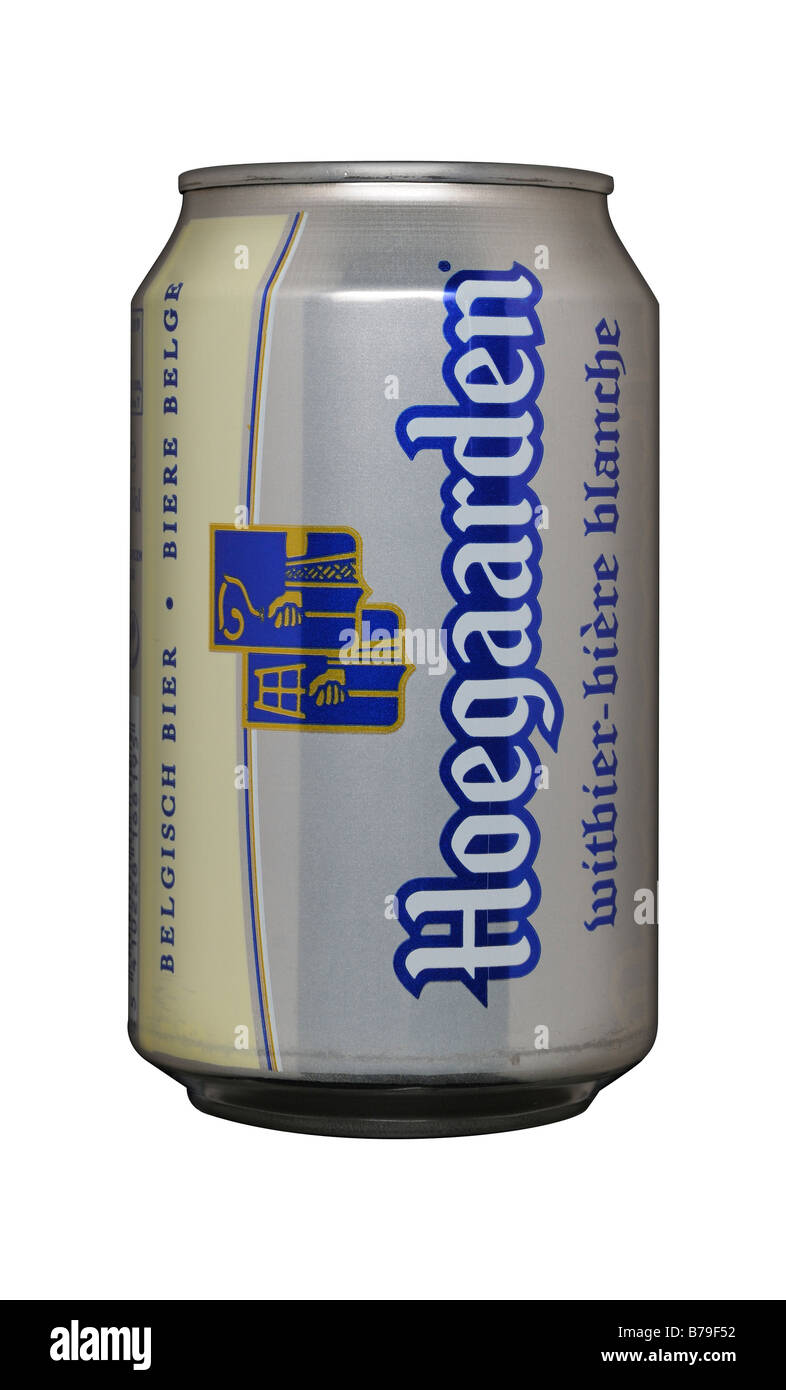 Hoegaarden Beer Larger Tin Can - Stock Image