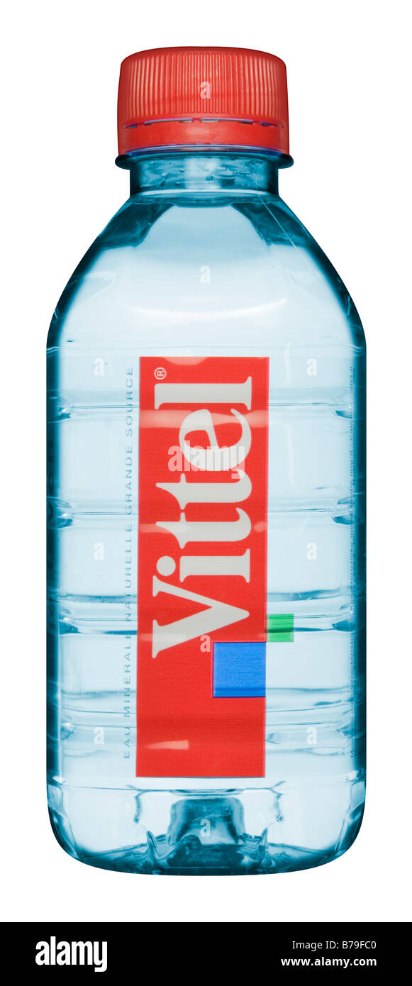 Vittel Mineral Water Bottle - Stock Image