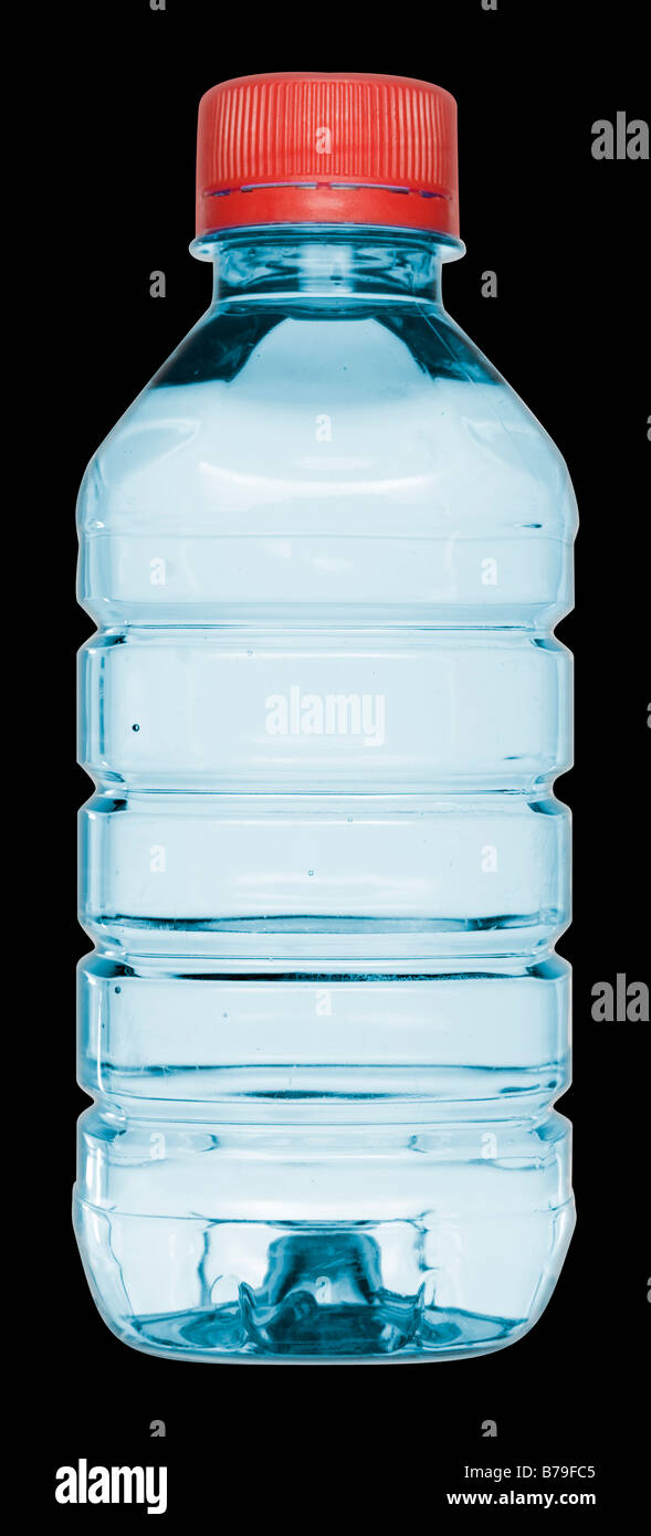 Vittel Mineral Water Bottle - Stock Image