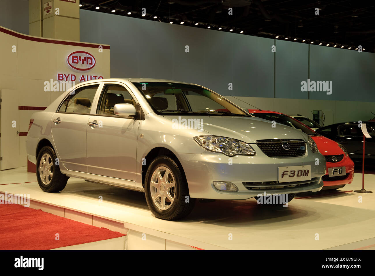 2009 BYD F3 DM at the 2009 North American International Auto Show in Detroit Michigan USA - Stock Image