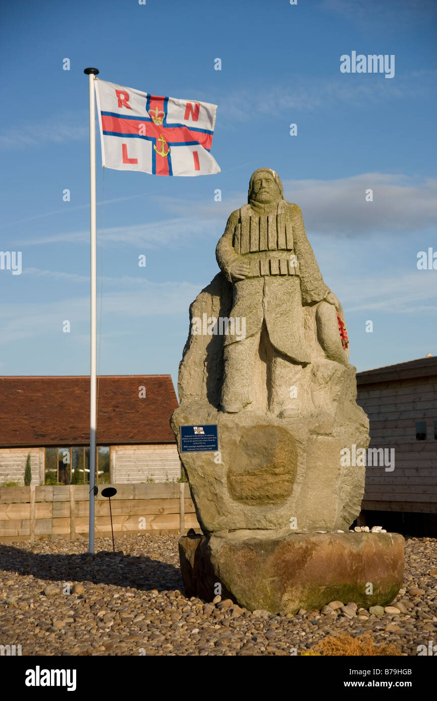 Royal National Lifeboat Institution Memorial at the National Memorial Arboreteum at Alrewas in Staffordshire, England Stock Photo
