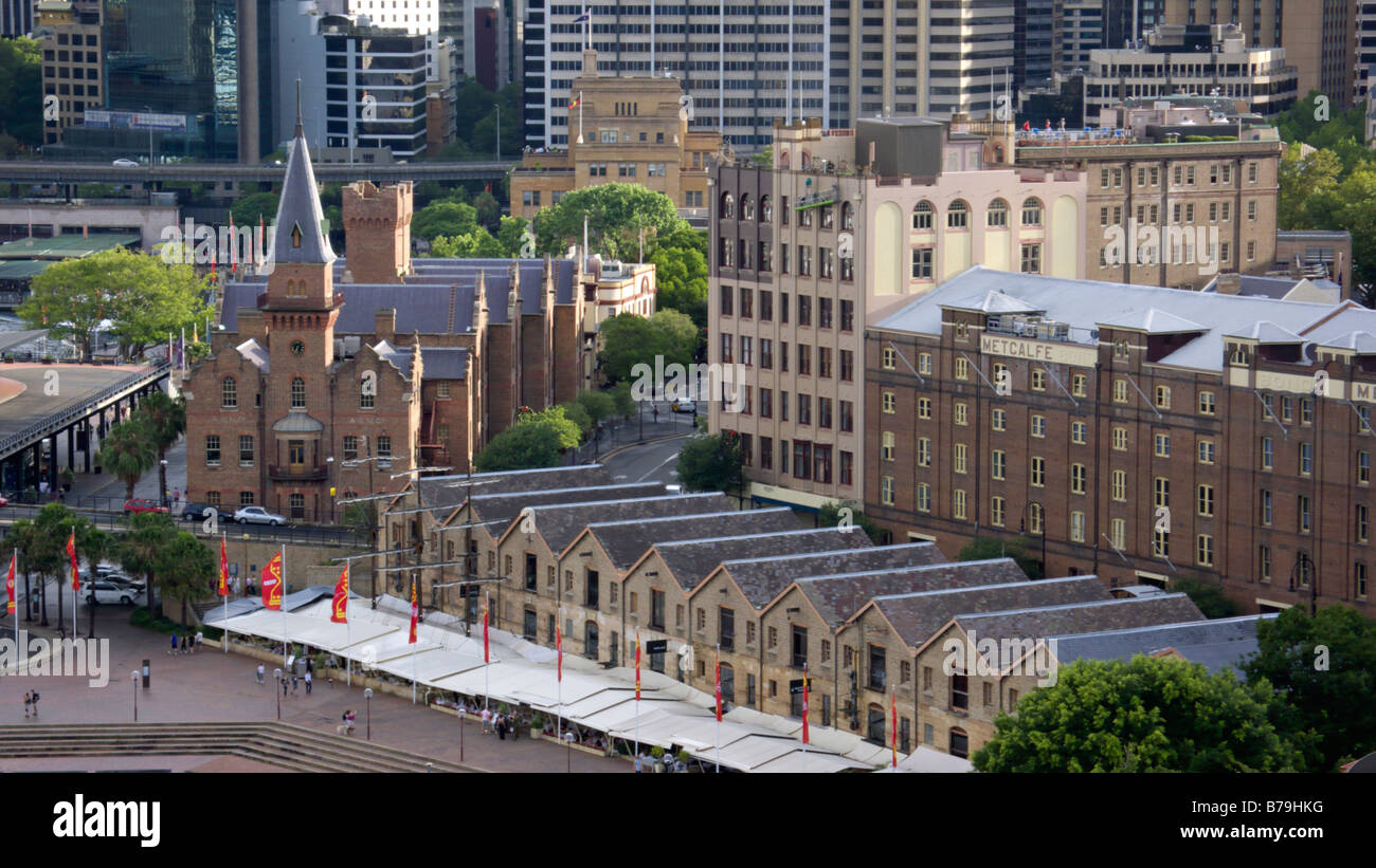 Campbell's Storehouses and Australasian Steam Navigation Co., Sydney, Australia Stock Photo
