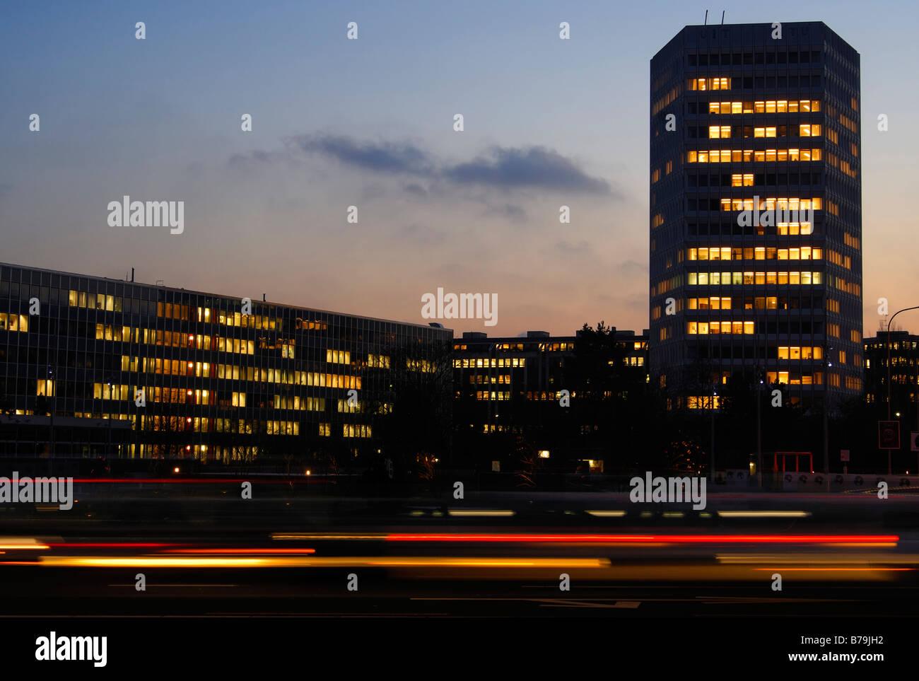 Headquarters of the International Telecommunication Union, ITU Place des Nations, Geneva, Switzerland - Stock Image