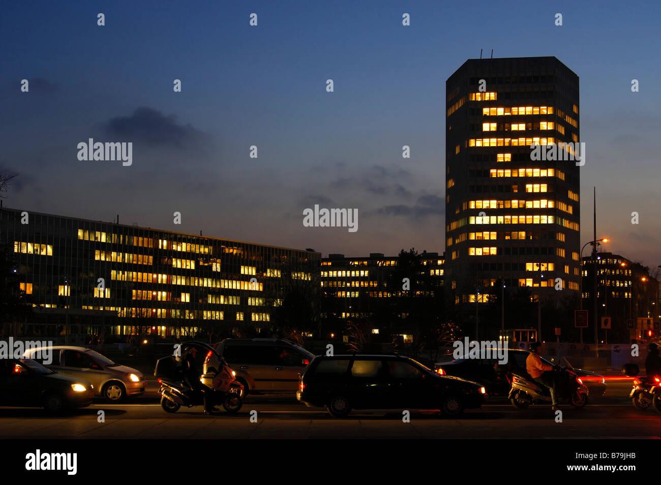 Headquarters of the International Telecommunication Union, ITU, Place des Nations, Geneva, Switzerland - Stock Image