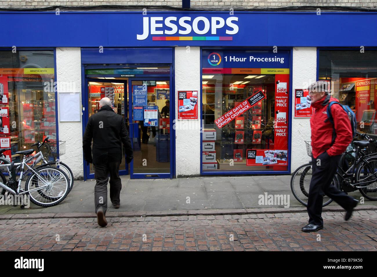 JESSOPS CAMERA SHOP  IN CAMBRIDGE - Stock Image