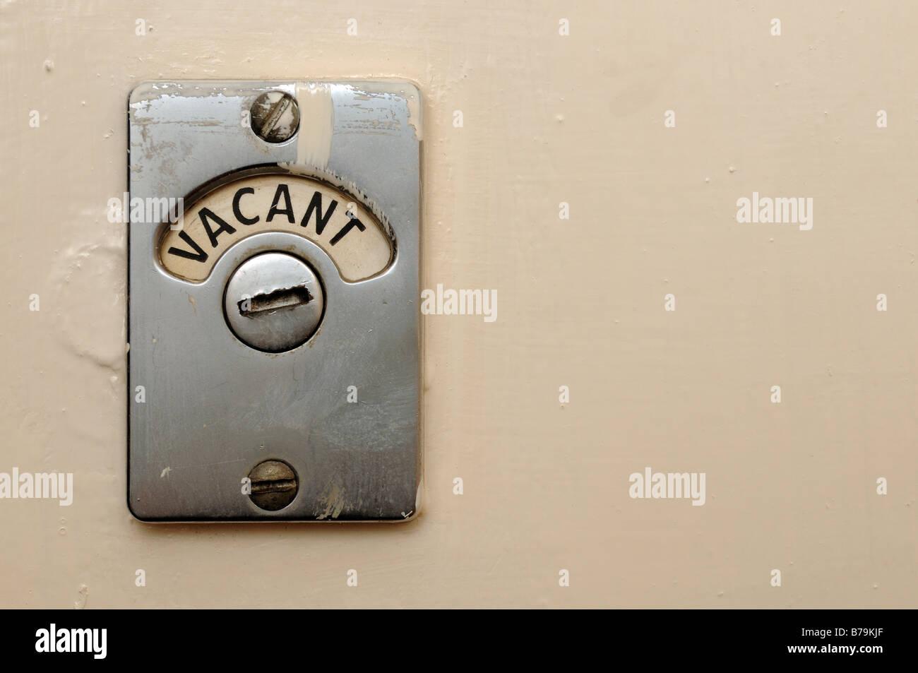 Vacant Toilet Door Lock