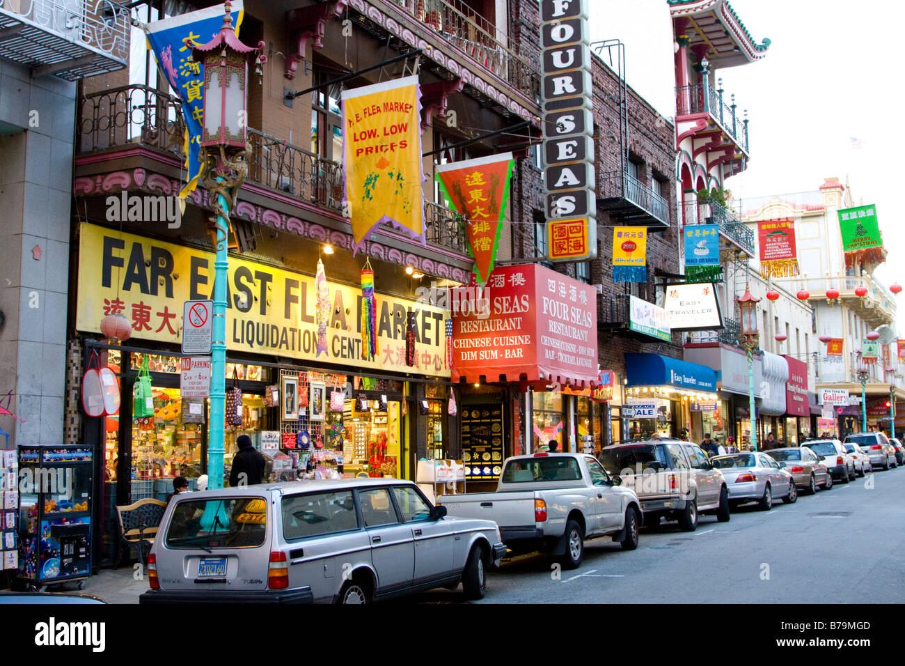 China Town San Francisco USA Stock Photo