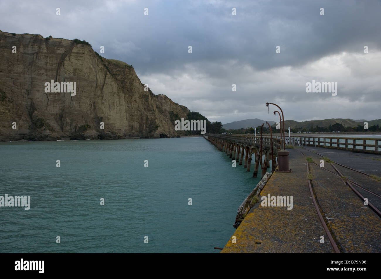 Tolaga Bay - the longest (660m) pier in New Zealand - Stock Image